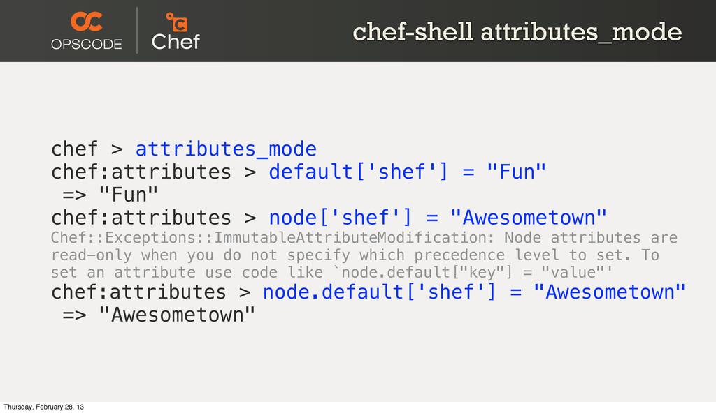 chef-shell attributes_mode chef > attributes_mo...