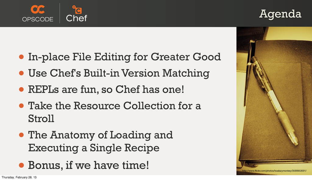 Agenda • In-place File Editing for Greater Good...