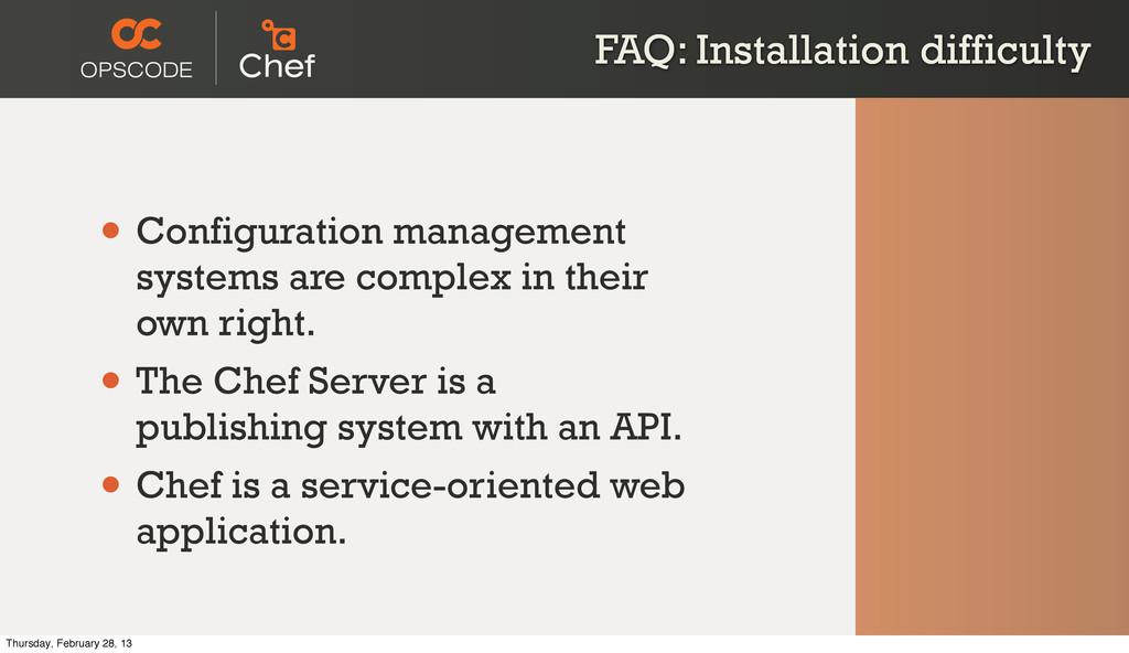 FAQ: Installation difficulty • Configuration ma...