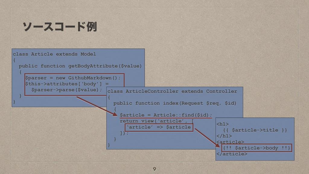 ιʔείʔυྫ 9 class Article extends Model { public ...