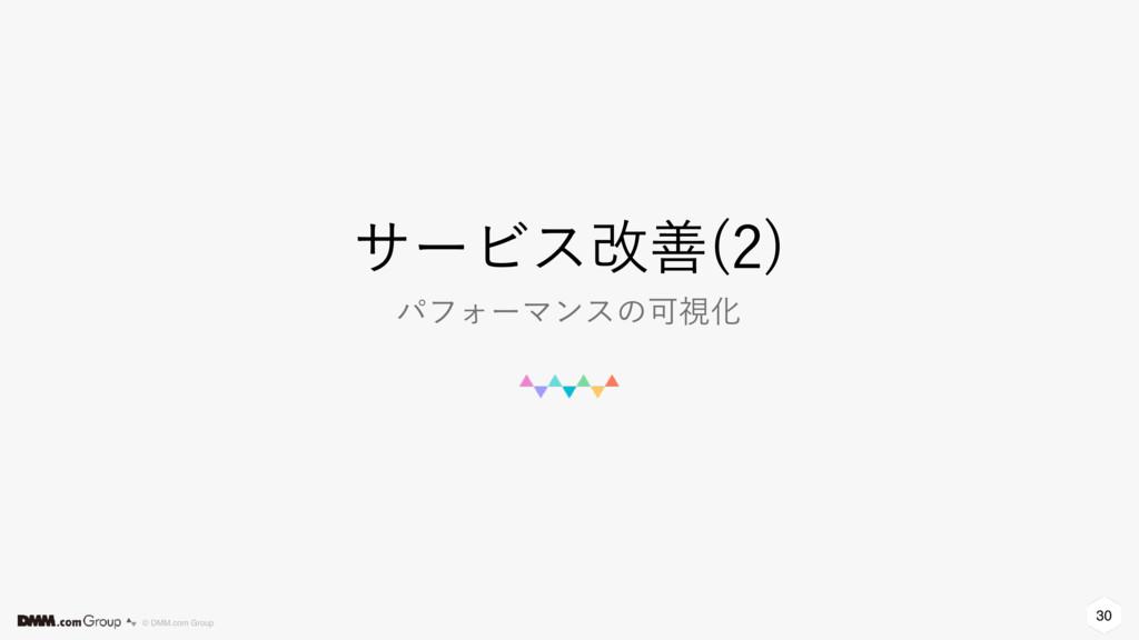 30 © DMM.com Group αʔϏεվળ   ύϑΥʔϚϯεͷՄࢹԽ