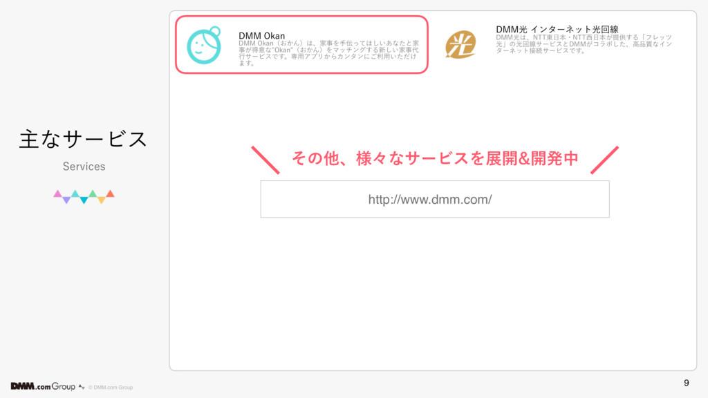 9 © DMM.com Group ओͳαʔϏε 4FSWJDFT http://www.dm...