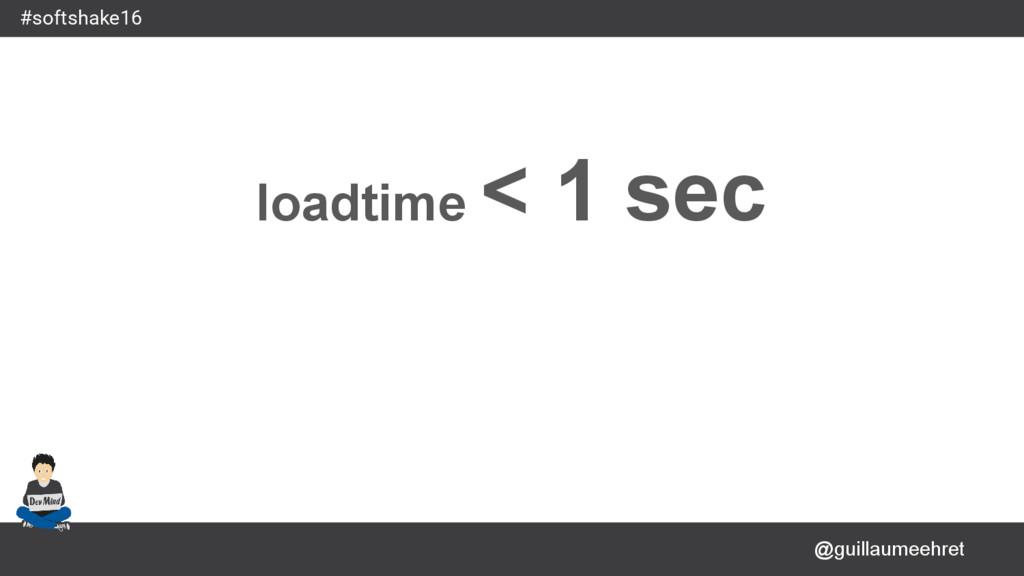 @guillaumeehret #softshake16 loadtime < 1 sec