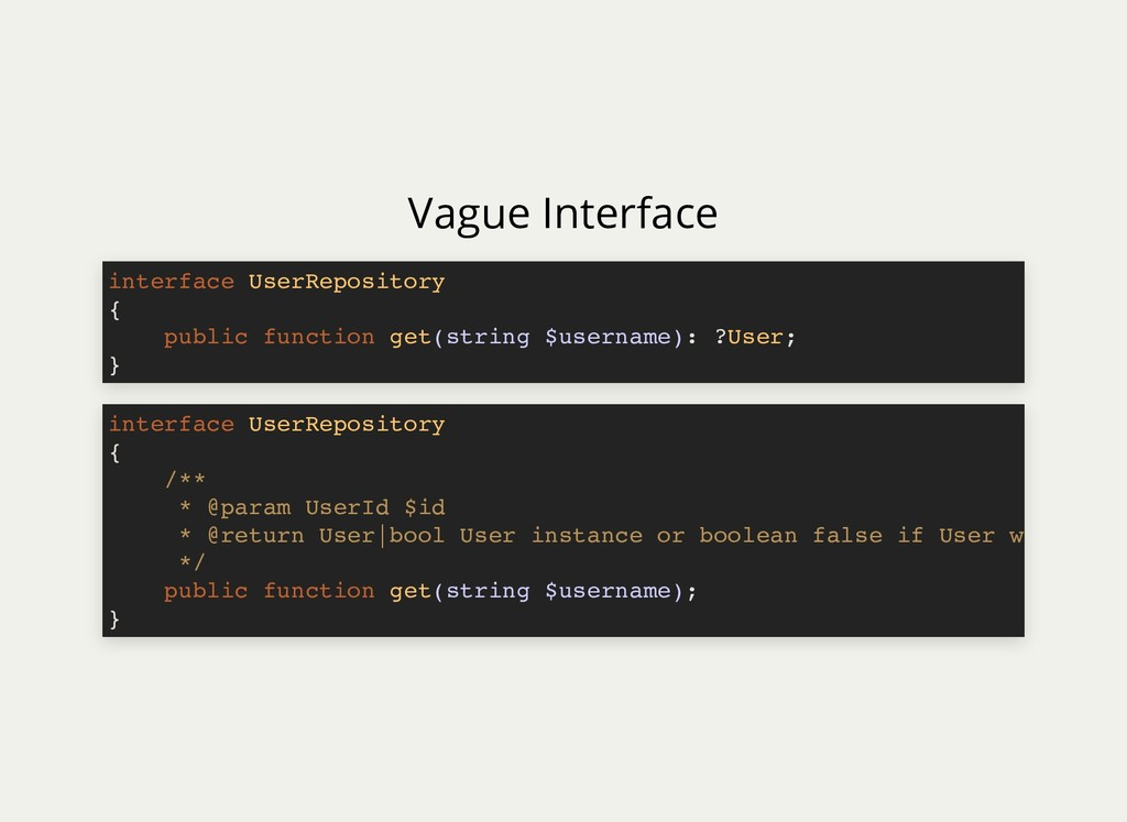 Vague Interface interface UserRepository { publ...