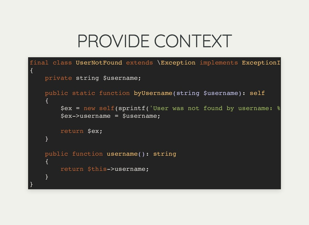 PROVIDE CONTEXT PROVIDE CONTEXT final class Use...
