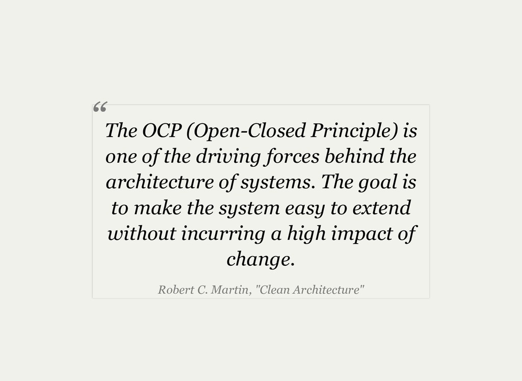 The OCP (OpenClosed Principle) is one of the d...