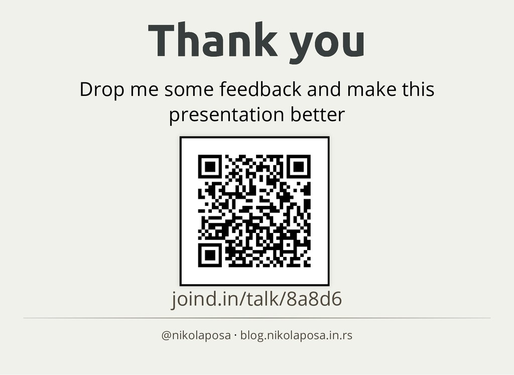 Thank you Thank you Drop me some feedback and m...