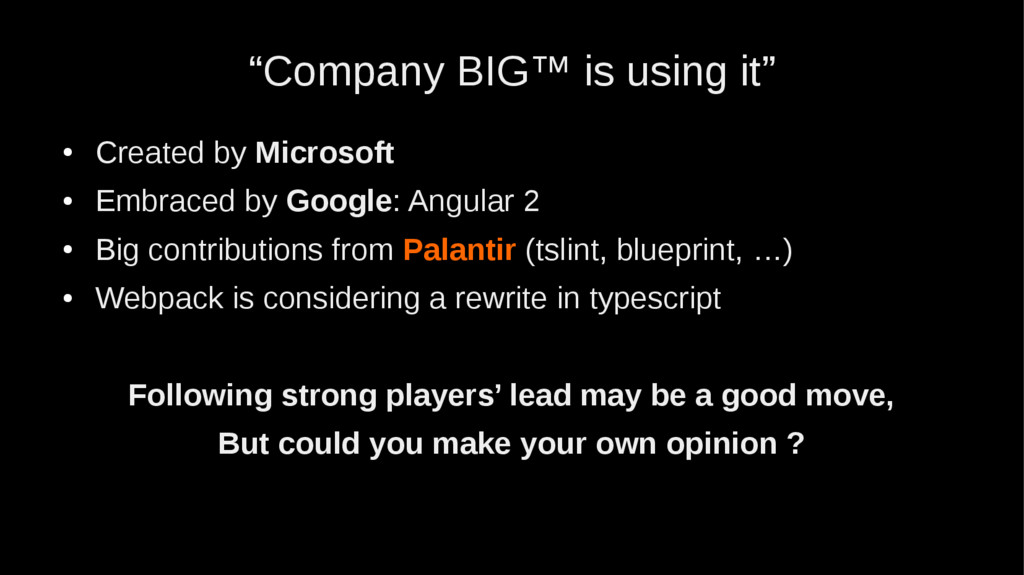"""""""Company BIG™ is using it"""" ● Created by Microso..."""