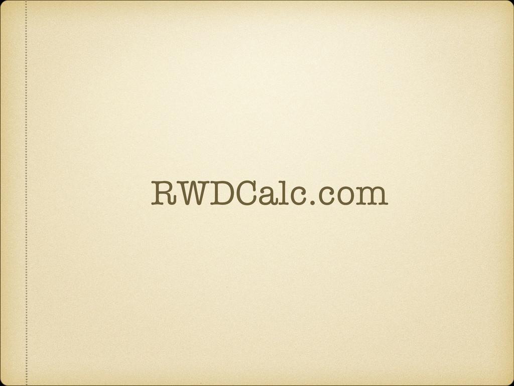 RWDCalc.com