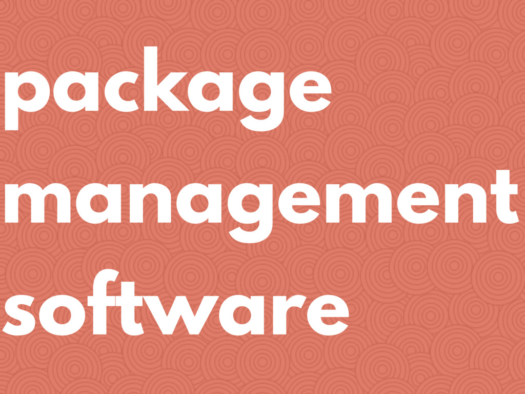package management software