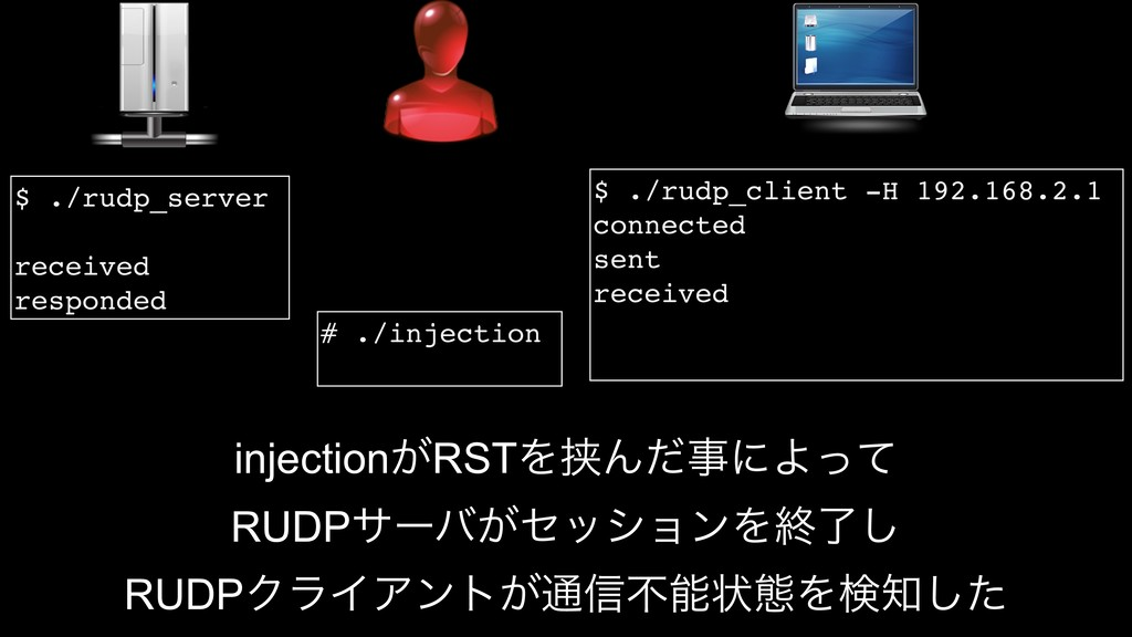$ ./rudp_client -H 192.168.2.1 connected sent r...