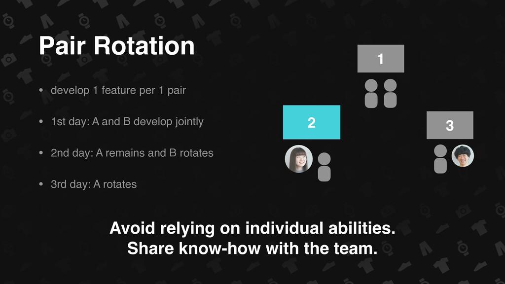 Pair Rotation • develop 1 feature per 1 pair • ...