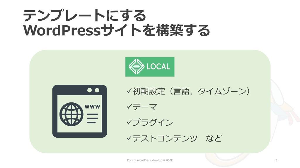 テンプレートにする WordPressサイトを構築する Kansai WordPress Me...