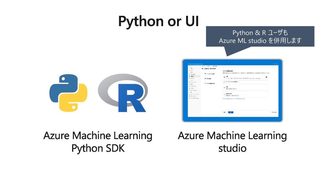 Python & R ユーザも Azure ML studio を併用します