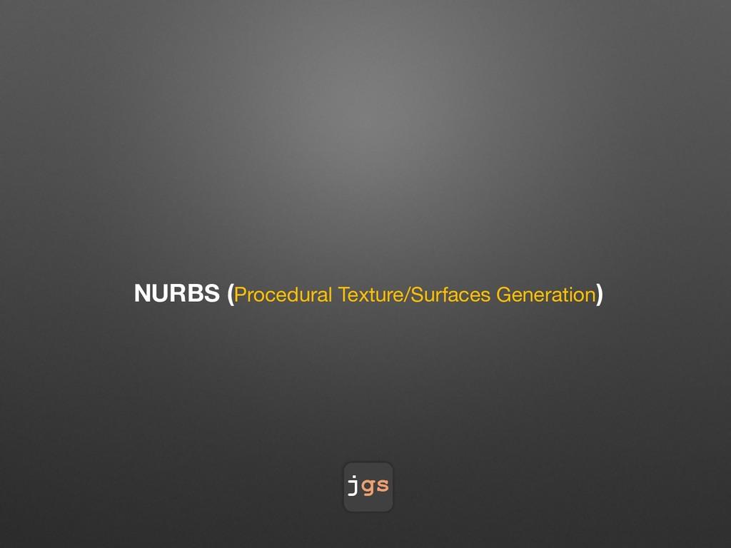 jgs NURBS (Procedural Texture/Surfaces Generati...