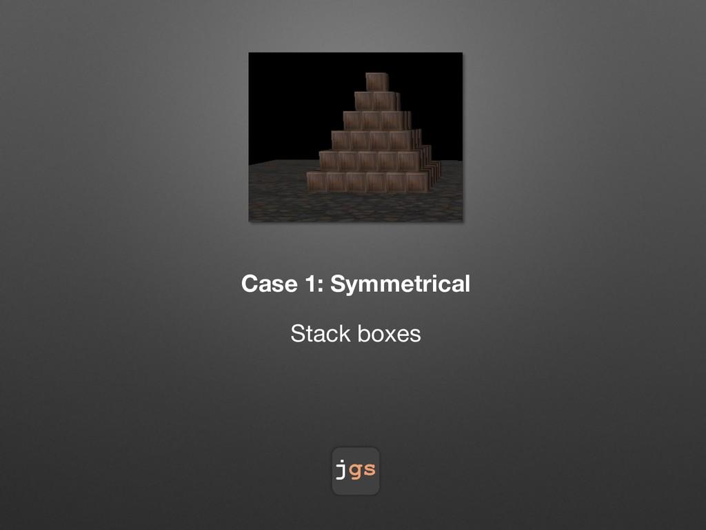 jgs Case 1: Symmetrical Stack boxes