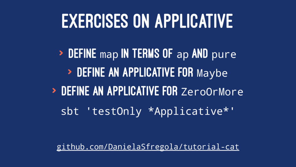 EXERCISES ON APPLICATIVE > Define map in terms ...