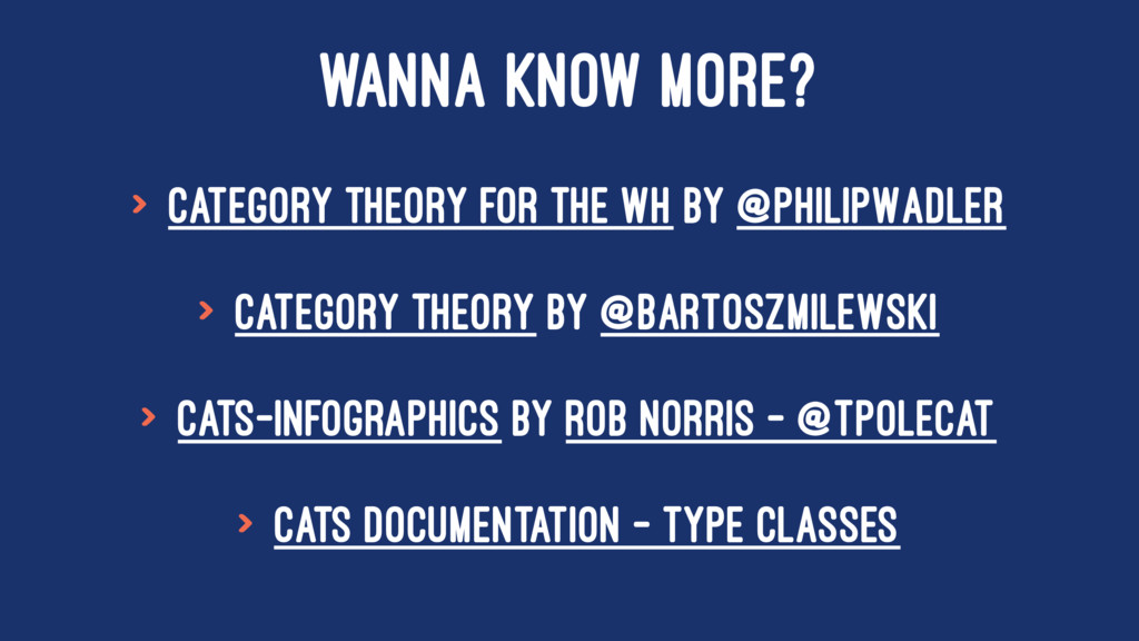 WANNA KNOW MORE? > Category Theory for the WH b...