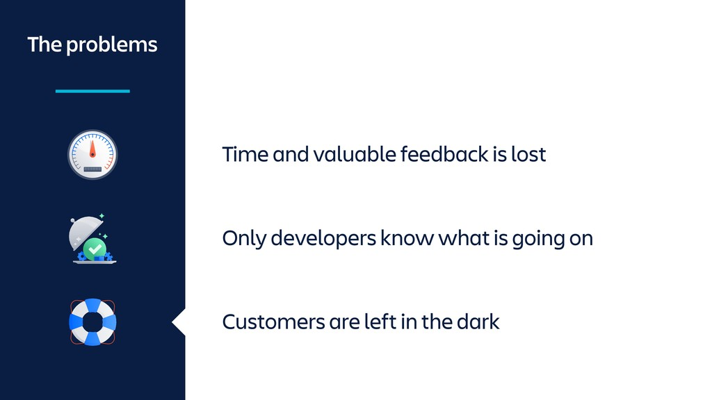 Time and valuable feedback is lost The problems...