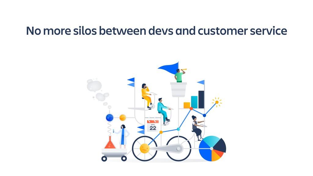 No more silos between devs and customer service