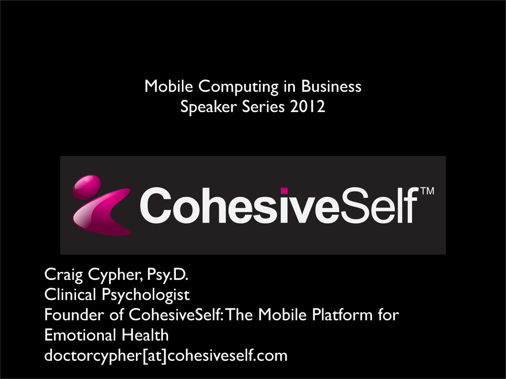 Craig Cypher, Psy.D. Clinical Psychologist Foun...