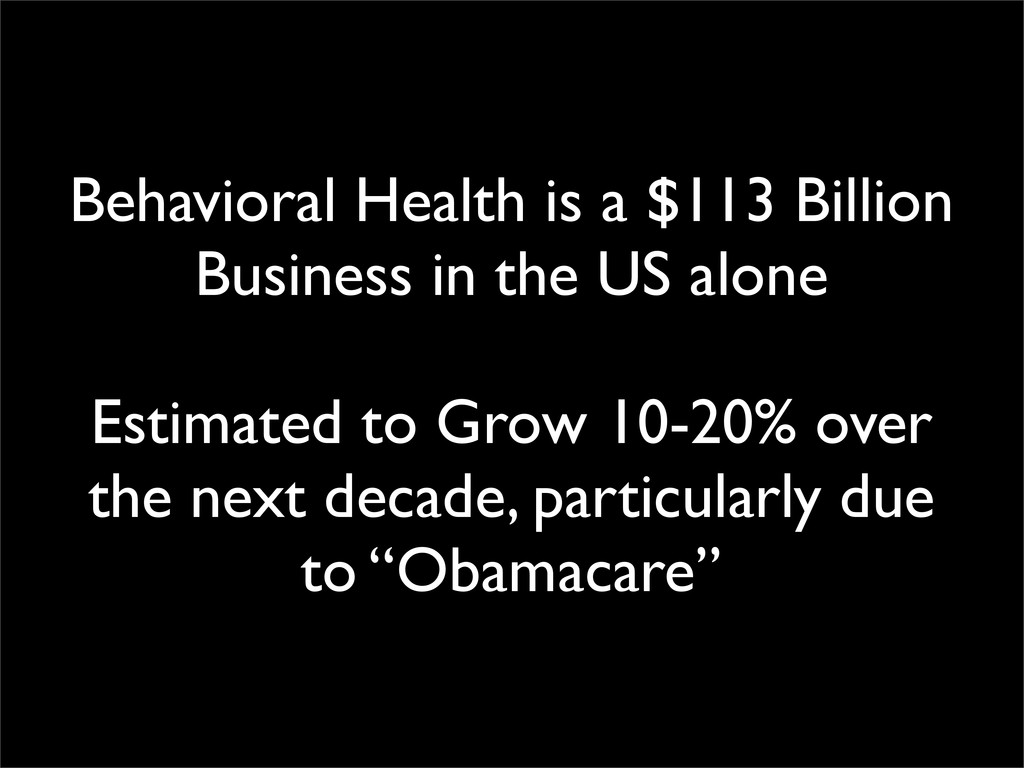 Behavioral Health is a $113 Billion Business in...