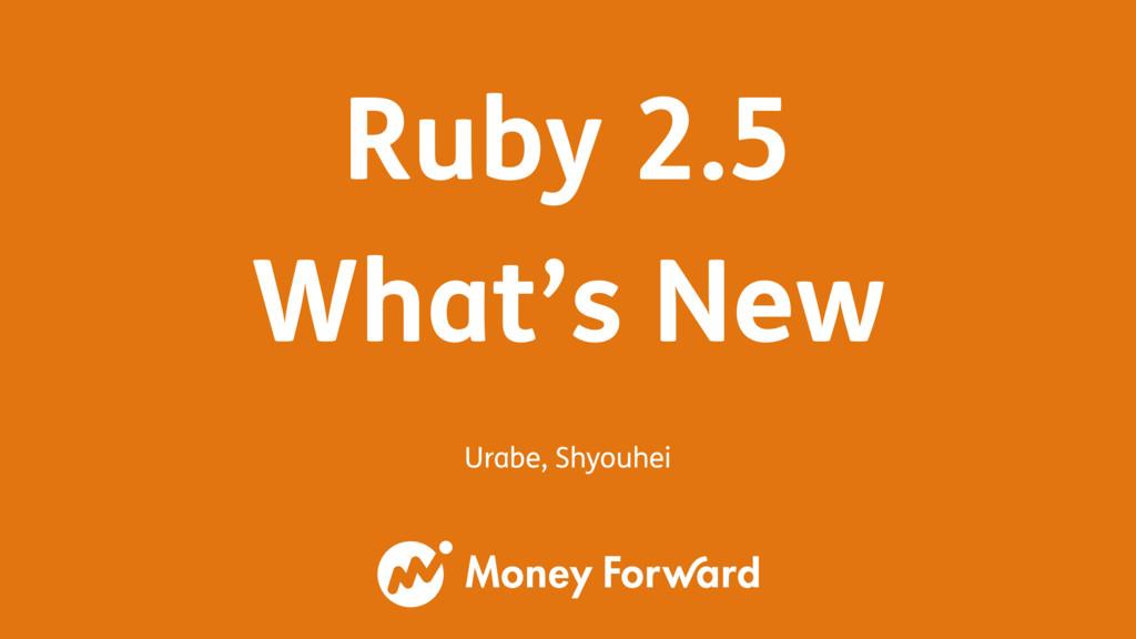 Urabe, Shyouhei Ruby 2.5 What's New