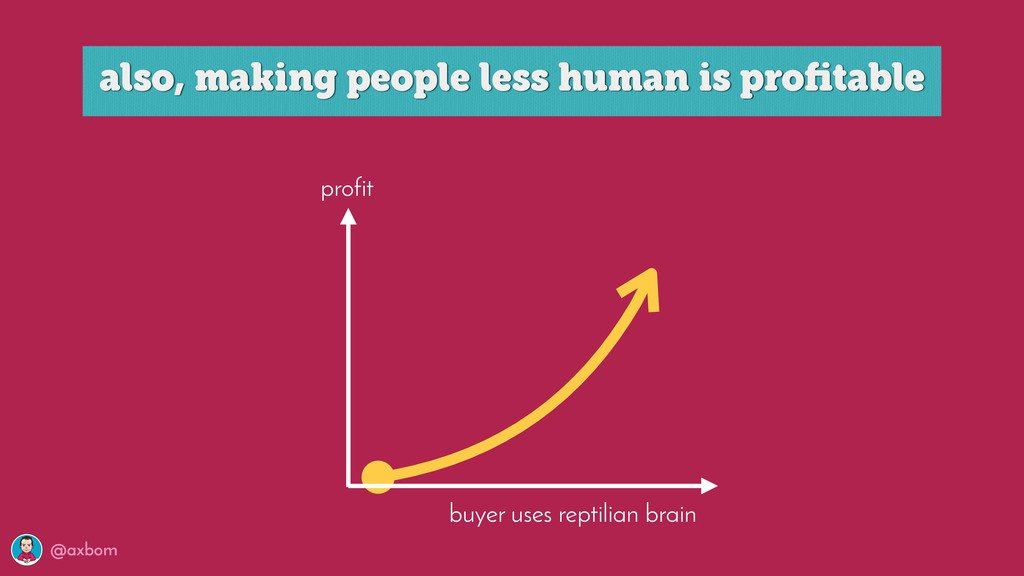 @axbom profit buyer uses reptilian brain also, ...