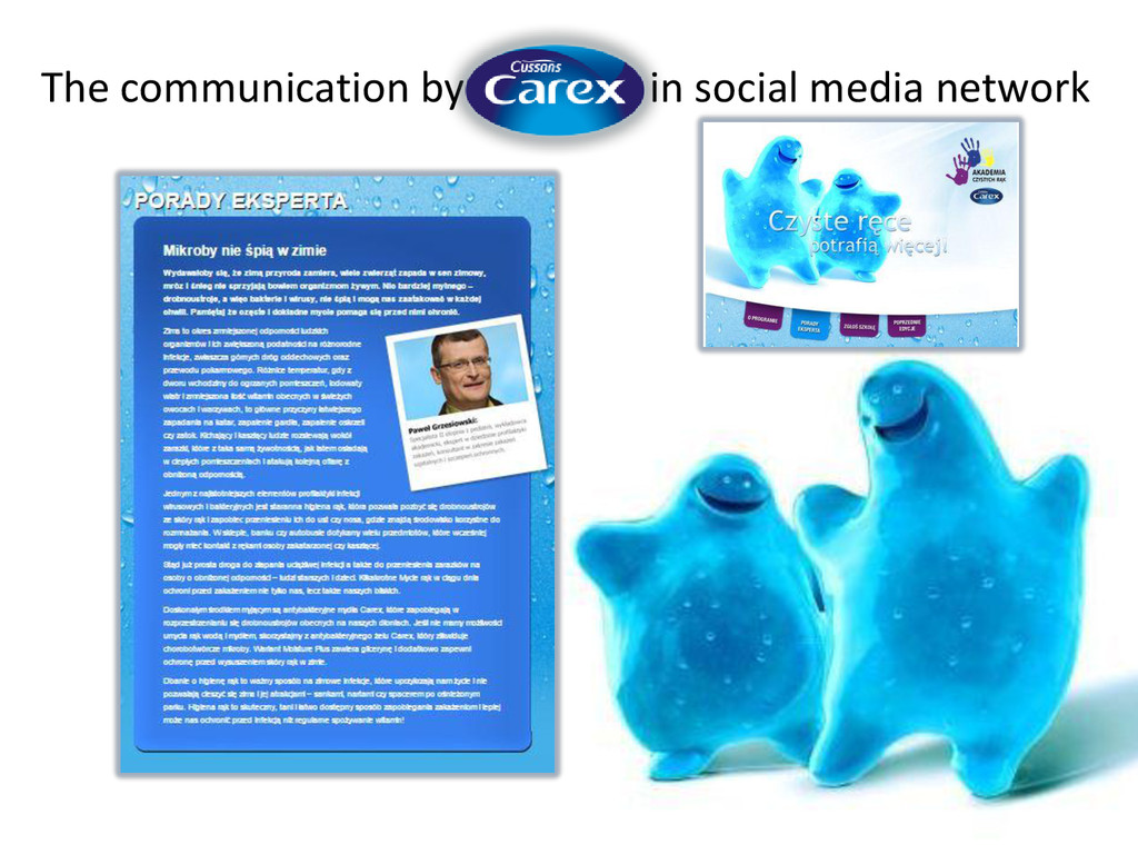 The communication by in social media network