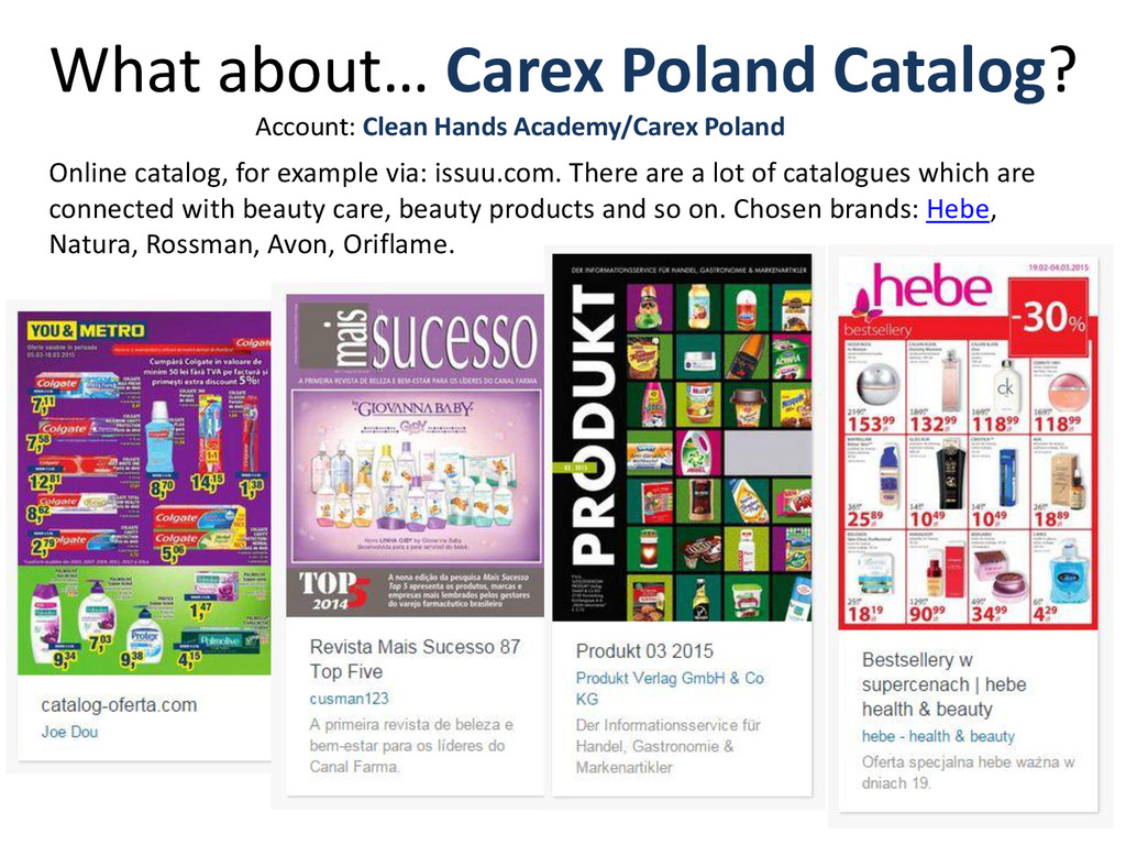 What about… Carex Poland Catalog? Online catalo...