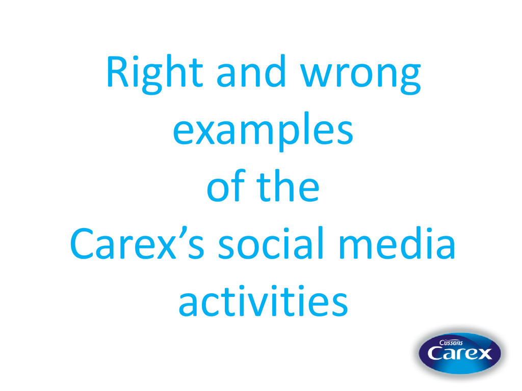 Right and wrong examples of the Carex's social ...