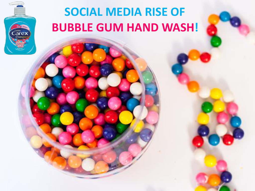SOCIAL MEDIA RISE OF BUBBLE GUM HAND WASH!