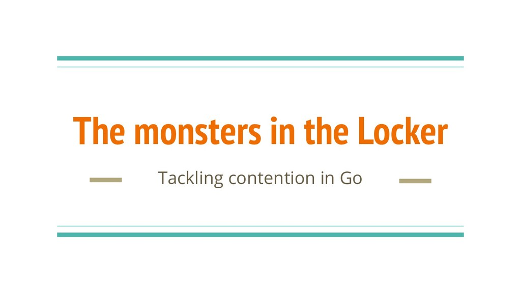 The monsters in the Locker Tackling contention ...