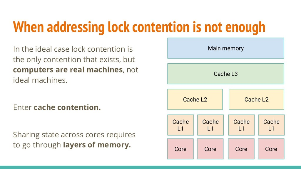 When addressing lock contention is not enough I...