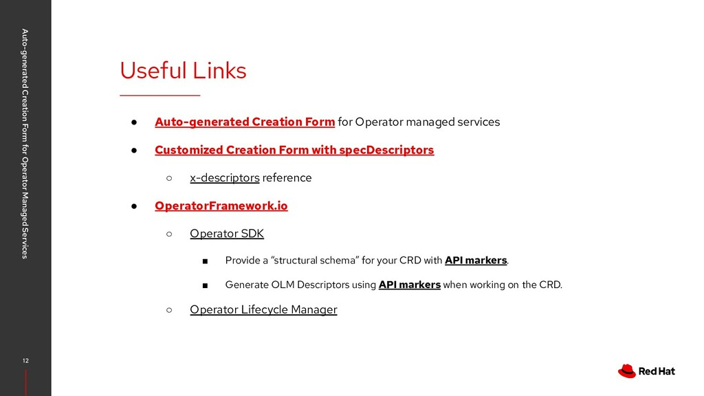 ● Auto-generated Creation Form for Operator man...