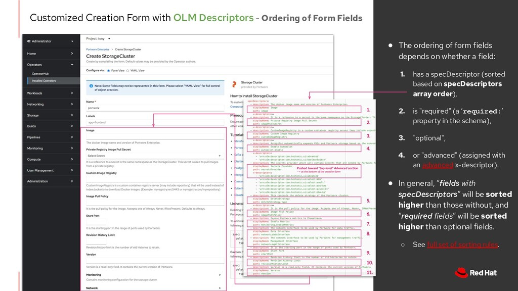 Customized Creation Form with OLM Descriptors -...