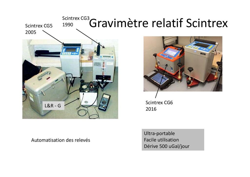Gravimètre relatif Scintrex L&R ‐ G Scintrex CG...
