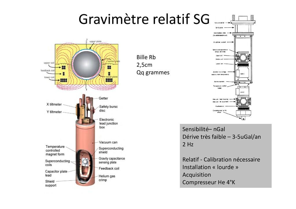 Gravimètre relatif SG Bille Rb 2,5cm Qq grammes...