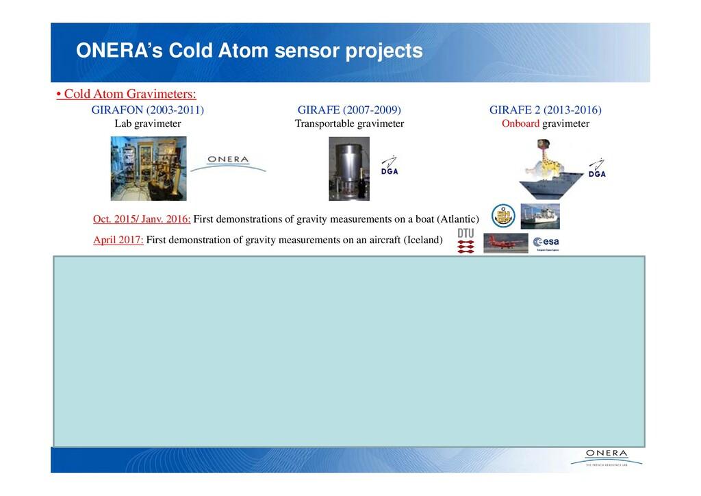 ONERA's Cold Atom sensor projects • Cold Atom G...
