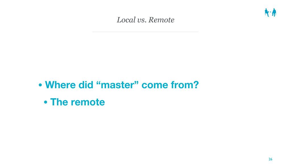 """Local vs. Remote • Where did """"master"""" come from..."""