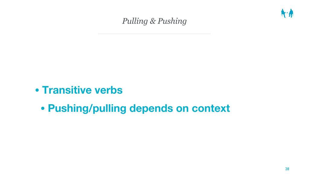 Pulling & Pushing • Transitive verbs • Pushing/...