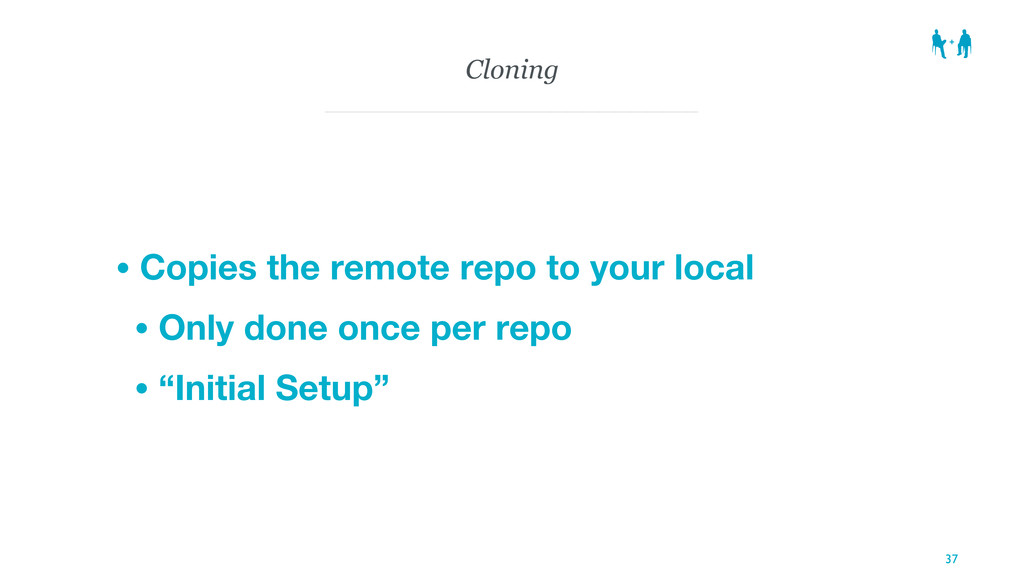 Cloning • Copies the remote repo to your local ...