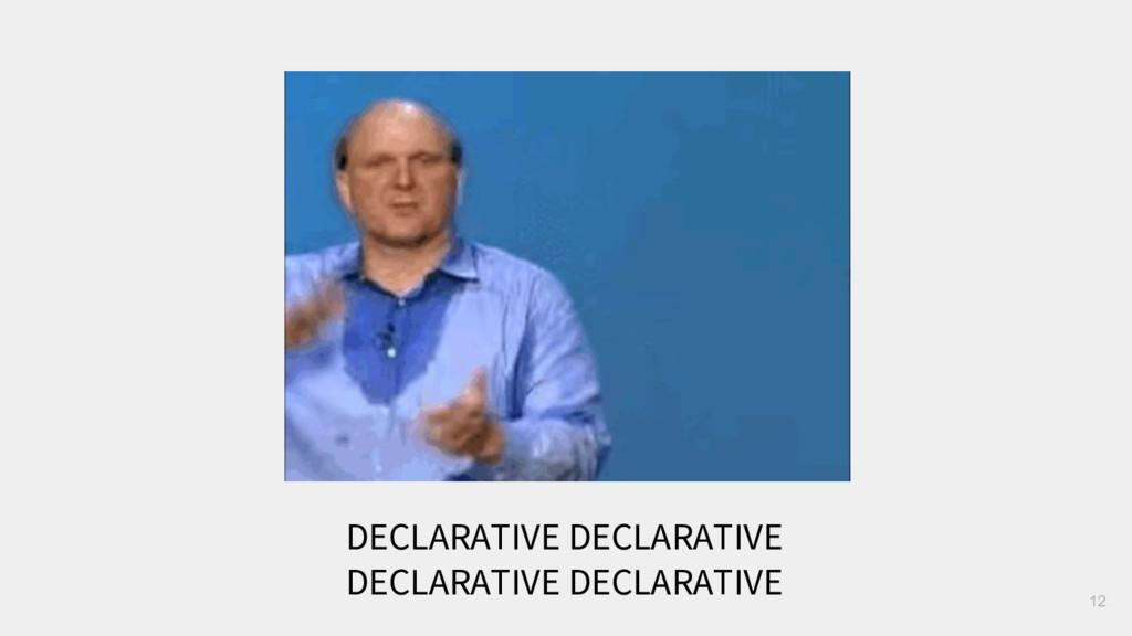 12 DECLARATIVE DECLARATIVE DECLARATIVE DECLARAT...