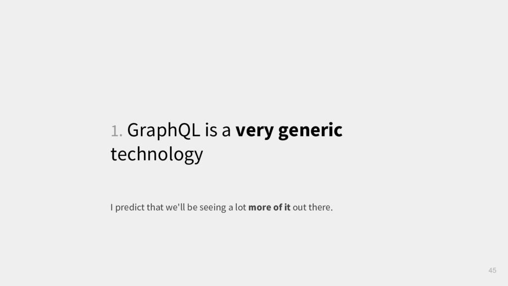 1. GraphQL is a very generic technology 45 I pr...