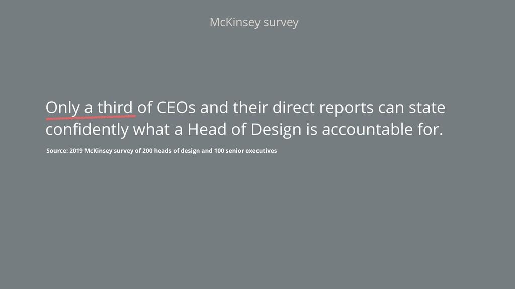 McKinsey survey Source: 2019 McKinsey survey of...
