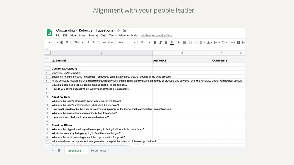 Alignment with your people leader