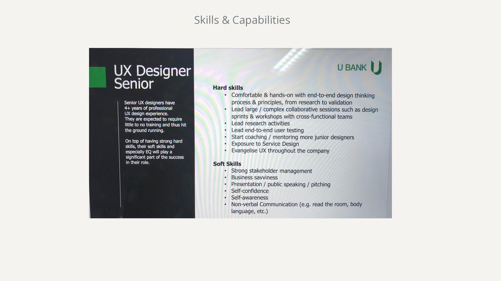 Skills & Capabilities