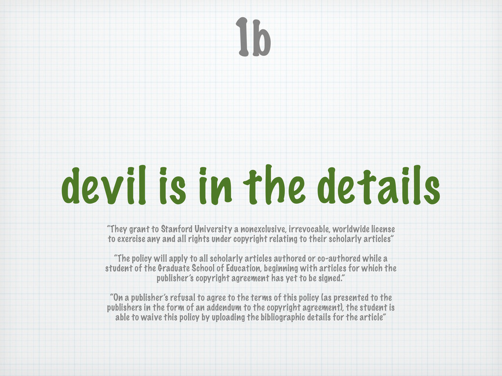 """devil is in the details 1b """"They grant to Stanf..."""