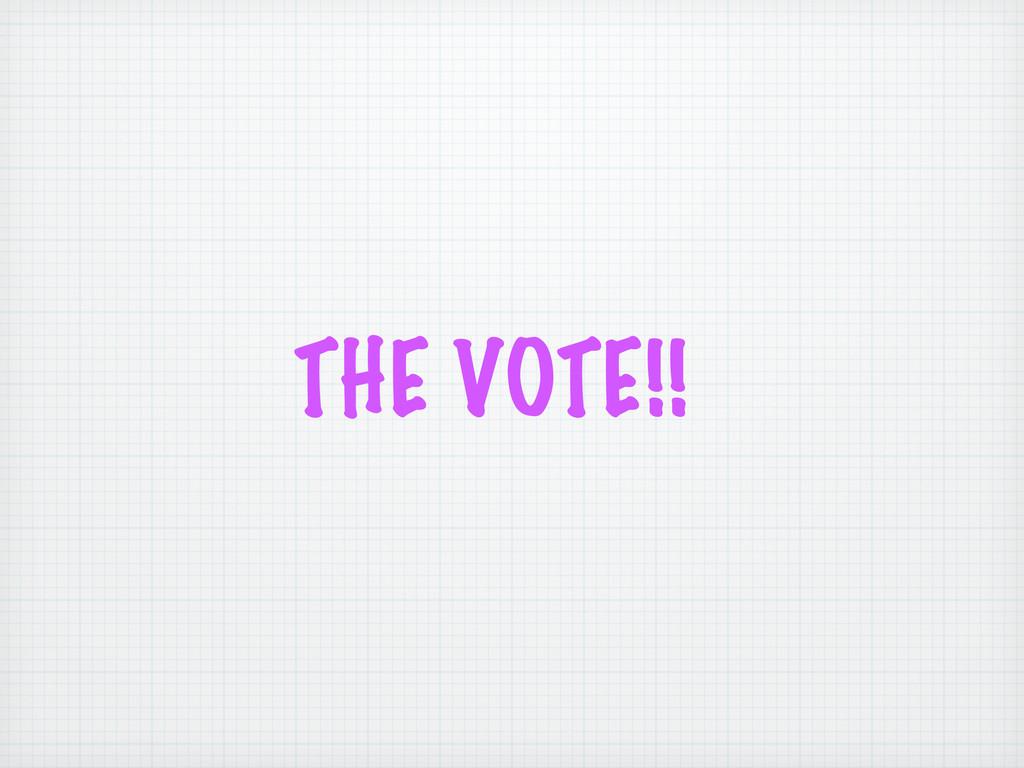 THE VOTE!!