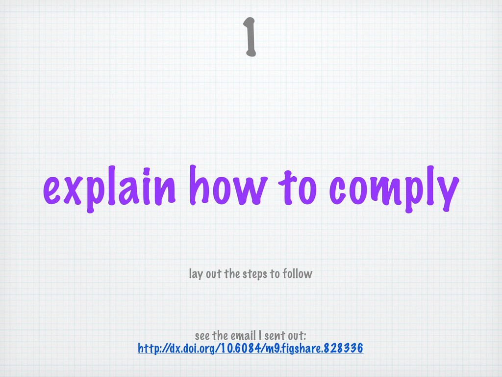explain how to comply 1 lay out the steps to fo...